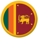 Sri Lanka Country Flag 58mm Button Badge